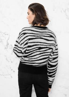 Zebra Jacquard Sweater