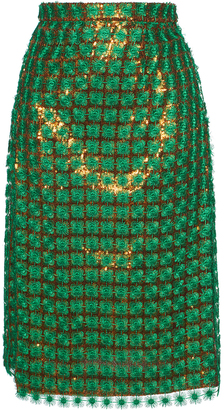 3D Embellished Pencil Skirt