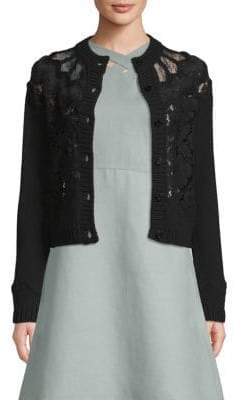 Valentino Long-Sleeve Wool Cardigan