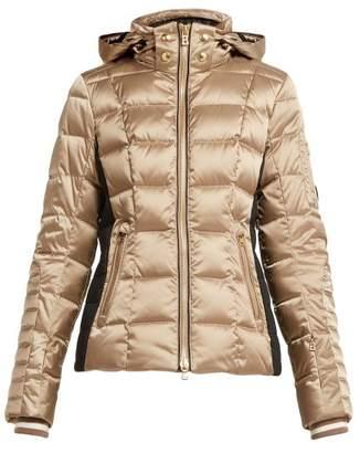 Bogner Uma Hooded Quilted Down Filled Ski Jacket - Womens - Light Brown