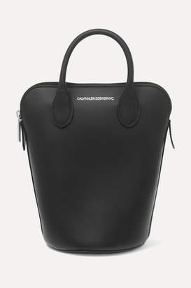 Calvin Klein Dalton Mini Leather Bucket Bag - Black