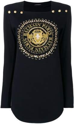 Balmain logo cord sweater