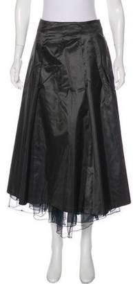 Rene Lezard A-Line Midi Skirt