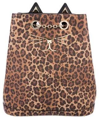 Charlotte Olympia Feline Leather Backpack