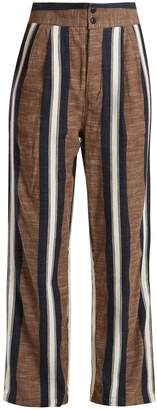 Ace&Jig Kate wide-leg striped cotton trousers