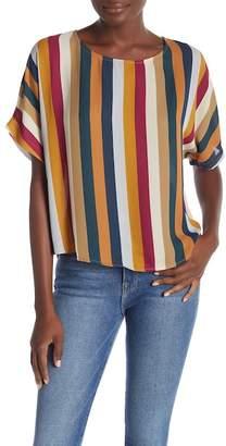 June & Hudson Striped Short Sleeve Top