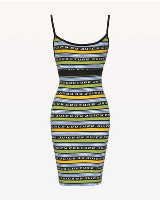Juicy Couture JXJC Juicy Racer Stripe Slip Dress