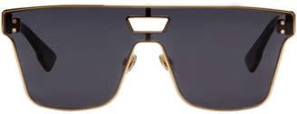 Dior Gold and Burgundy Diorizon 1 Sunglasses