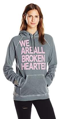 Freecity Women's Broken Hearted Studded P/o Hoodie