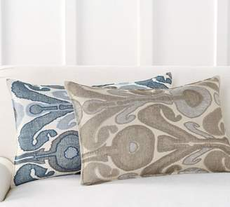 Pottery Barn Kenmare Ikat Embroidered Lumbar Pillow Cover