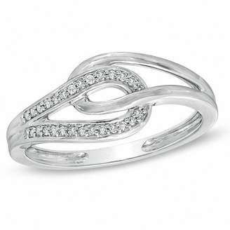 Zales Diamond Accent Interlocking Loops Ring in 10K White Gold