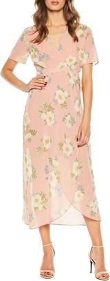 Bardot Floral Wrap Maxi Dress
