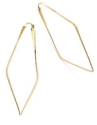 Moon & Meadow Hammered Geometric Hoop Earrings in 14K Yellow Gold - 100% Exclusive