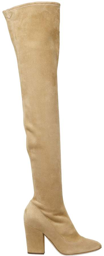 90mm Stretch Suede Over The Knee Boots