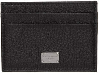 Dolce & Gabbana Black Logo Plaque Card Holder
