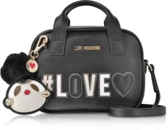 Love Moschino Black Love Top Handle Shoulder Bag