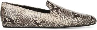 Vince Paz Snake-Print Leather Loafers