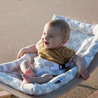 Cuckooland Levo Baby Rocker In Beech With Moumout Cloud Cushion