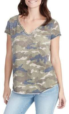 William Rast Cooper Camo Henley Tee