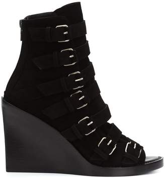 Ann Demeulemeester strappy open toe boots