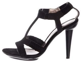 Bottega Veneta Suede T-Strap Sandals