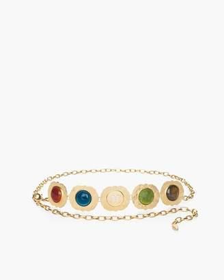 Chico's Chicos Multi-Colored Stone Chain Belt