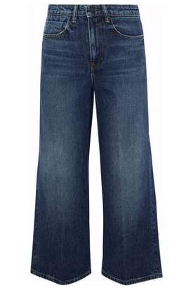 Alexander Wang Drill Cropped High-Rise Wide-Leg Jeans