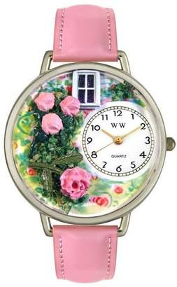 Whimsical Watches Unisex U1210005 Roses Pink Leather Watch