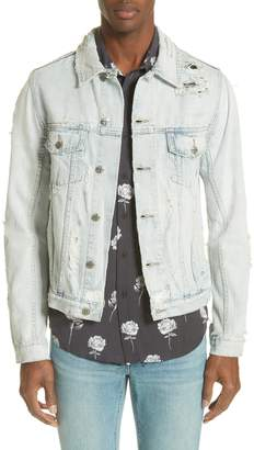 Ksubi Chaser Ripped Denim Jacket