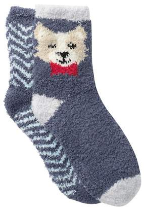 Free Press Patterned Fuzzy Socks - Pack of 2