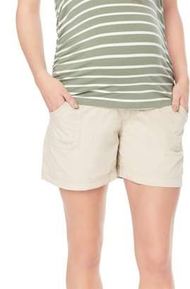 Motherhood Maternity Secret Fit Belly Cargo Pockets Maternity Shorts