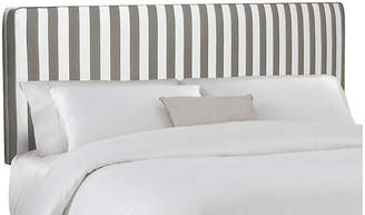 One Kings Lane Macy Striped Headboard - Gray