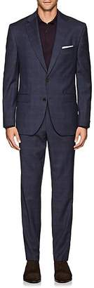 Jack Victor MEN'S PLAID WOOL TWO-BUTTON SUIT - BLUE SIZE 42 L