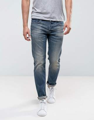 G Star G-Star 3301 slim fit blue Delm stretch mid wash