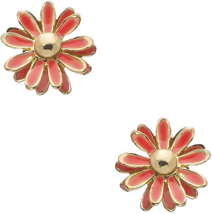 Blu Bijoux Small Coral Flower Stud Earrings