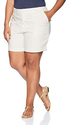 Caribbean Joe Women's High Density Poplin Rolled Shorts with Lambchop Pocket