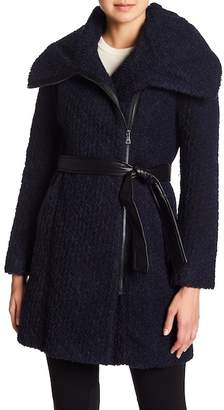 Cole Haan Wool Blend Belted Coat
