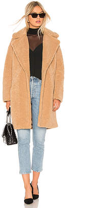 KENDALL + KYLIE Single Breasted Teddy Coat