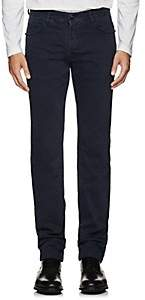 Marco Pescarolo Men's Cotton Twill 5-Pocket Pants-Navy