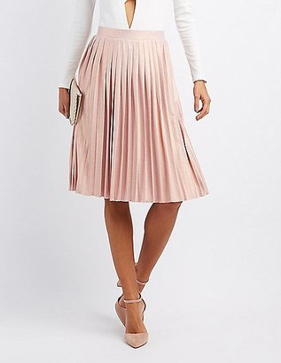 Shimmer Pleated Midi Skirt $26.99 thestylecure.com