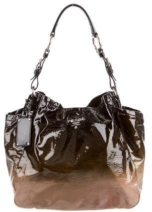 prada Prada Vernice Sfumato Side Pocket Hobo