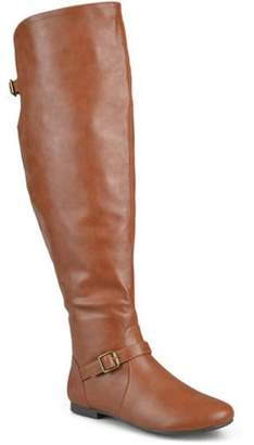 Co Generic Brinley Women's Wide Calf Buckle Tall Round Toe Riding Boots