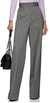 Pt01 Women's Juliet Herringbone Wool Wide-Leg Trousers - Gray