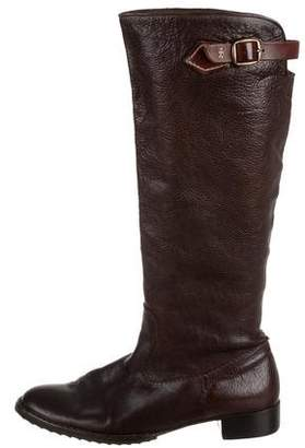 Henry Beguelin Distressed Leather Knee-High Boots