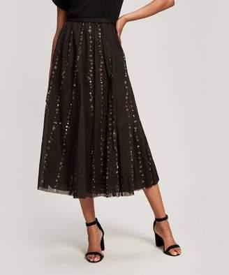 Pas De Calais Spot Splatter Cotton Maxi-Skirt