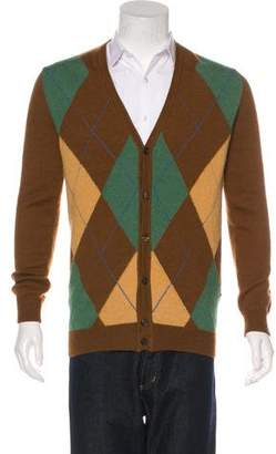 DSQUARED2 Argyle Wool-Blend Cardigan