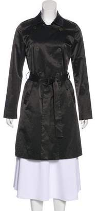 Eileen Fisher Double-Breasted Trench Coat