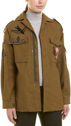 Valentino Embroidered Military Jacket