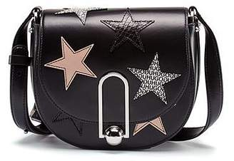 HUGO BOSS Cross-body bag in coated leather with star motifs
