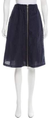 Steven Alan Patterned Knee-Length Skirt